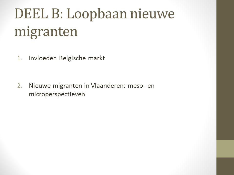 DEEL B: Loopbaan nieuwe migranten