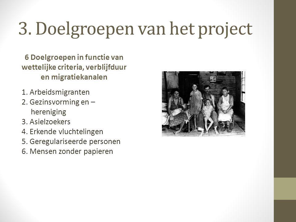 3. Doelgroepen van het project