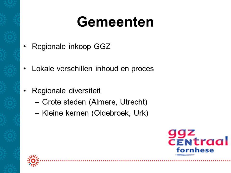 Gemeenten Regionale inkoop GGZ Lokale verschillen inhoud en proces