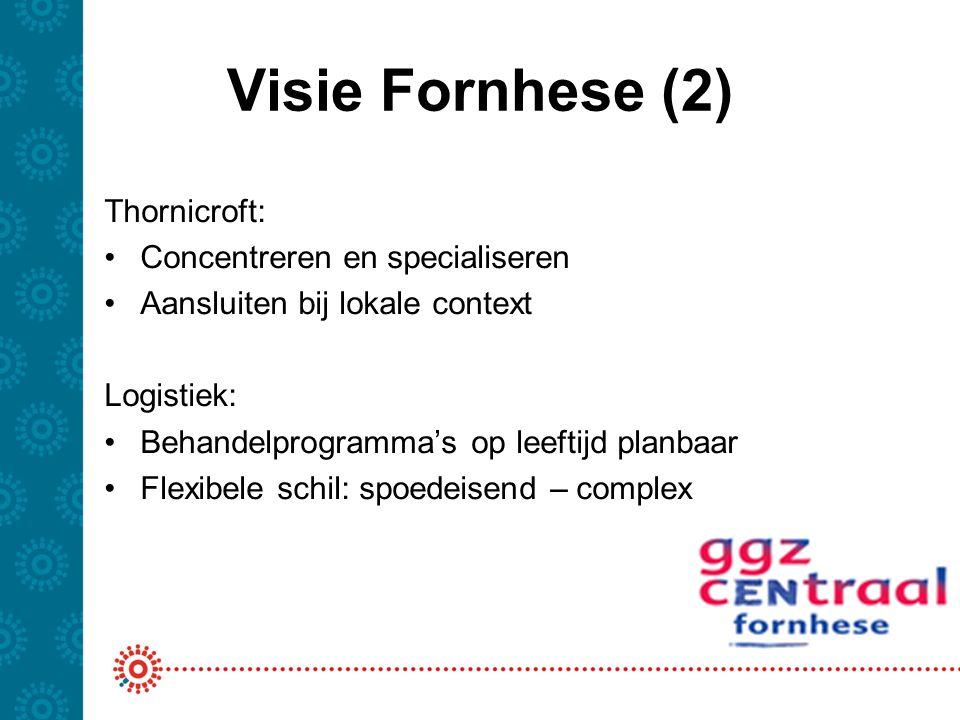 Visie Fornhese (2) Thornicroft: Concentreren en specialiseren