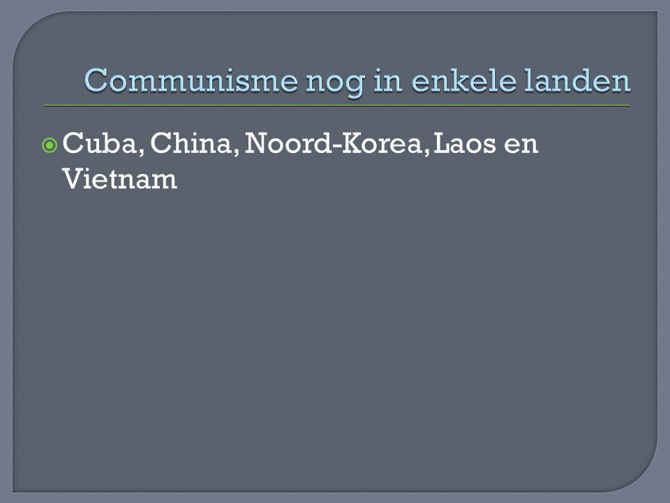 Communisme nog in enkele landen