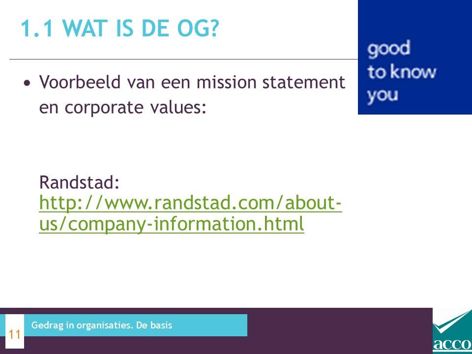 1.1 Wat is de OG Voorbeeld van een mission statement