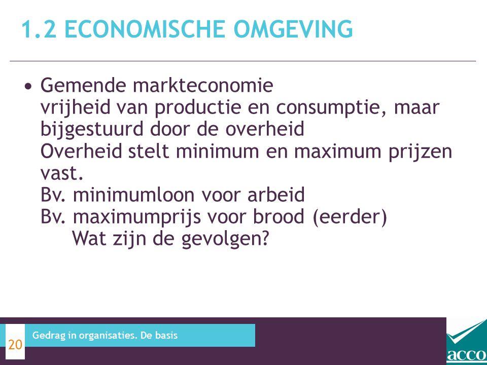 1.2 Economische omgeving