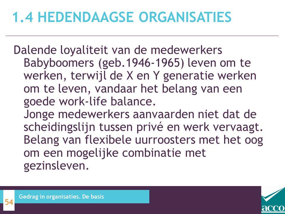 1.4 Hedendaagse organisaties
