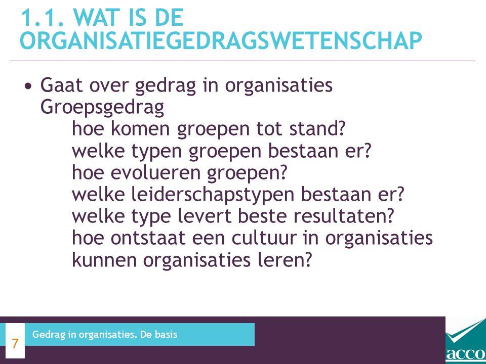 1.1. Wat is de organisatiegedragswetenschap