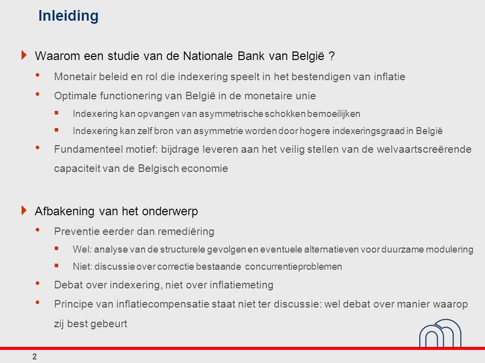 Inleiding Waarom een studie van de Nationale Bank van België