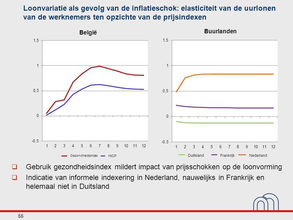 Loonvariatie als gevolg van de inflatieschok: elasticiteit van de uurlonen van de werknemers ten opzichte van de prijsindexen
