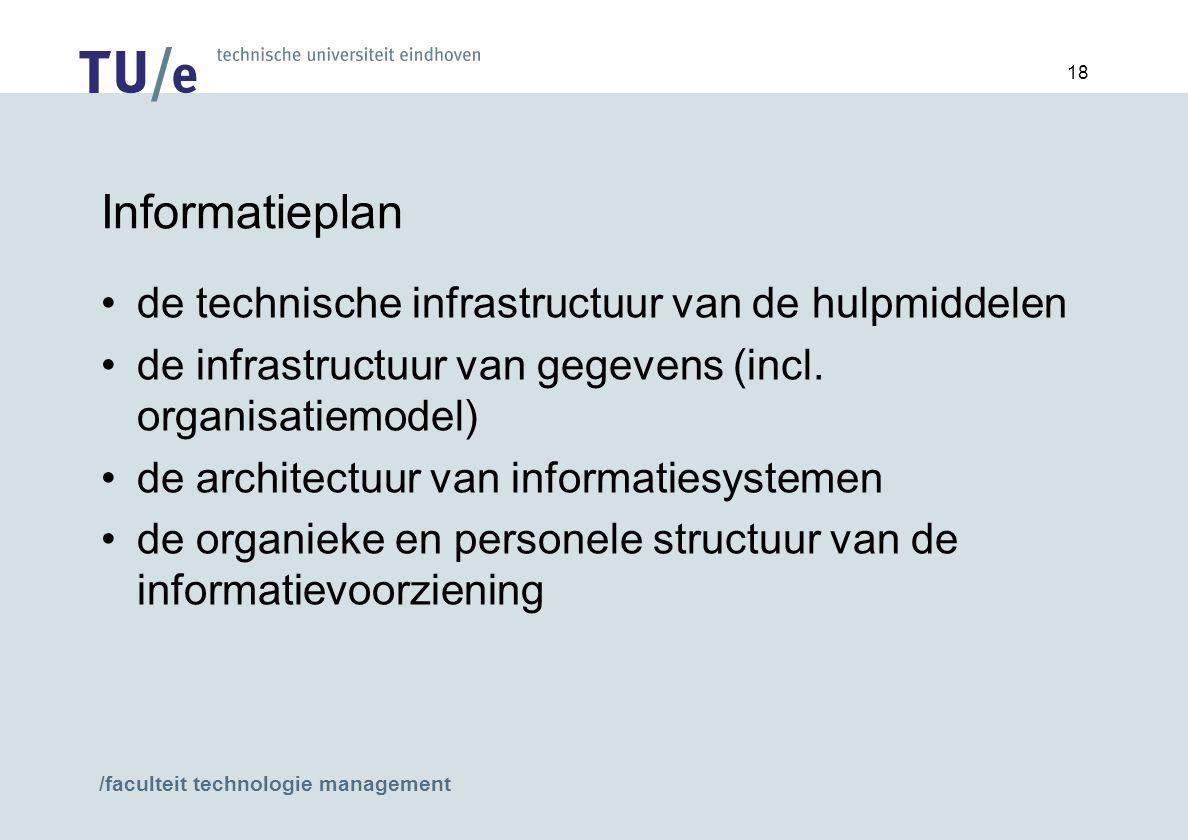 Informatieplan de technische infrastructuur van de hulpmiddelen