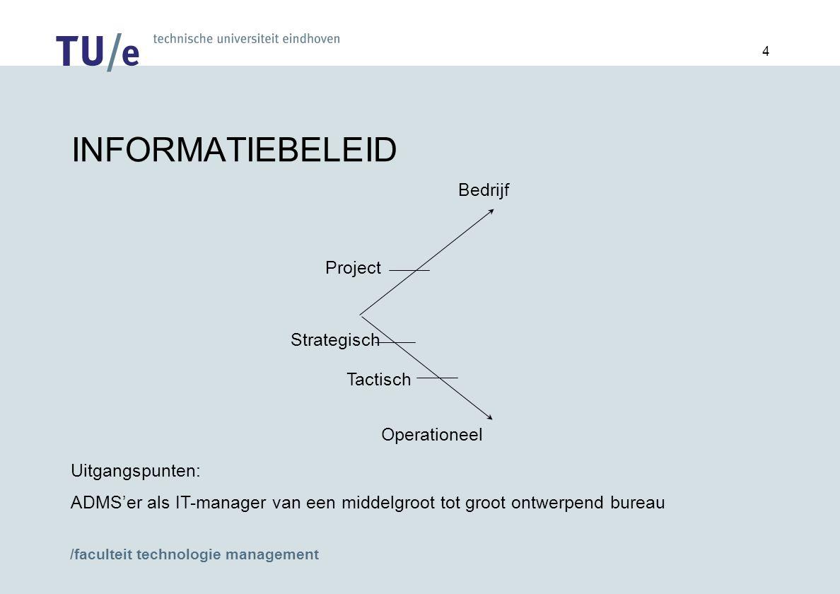 INFORMATIEBELEID Bedrijf Project Strategisch Tactisch Operationeel