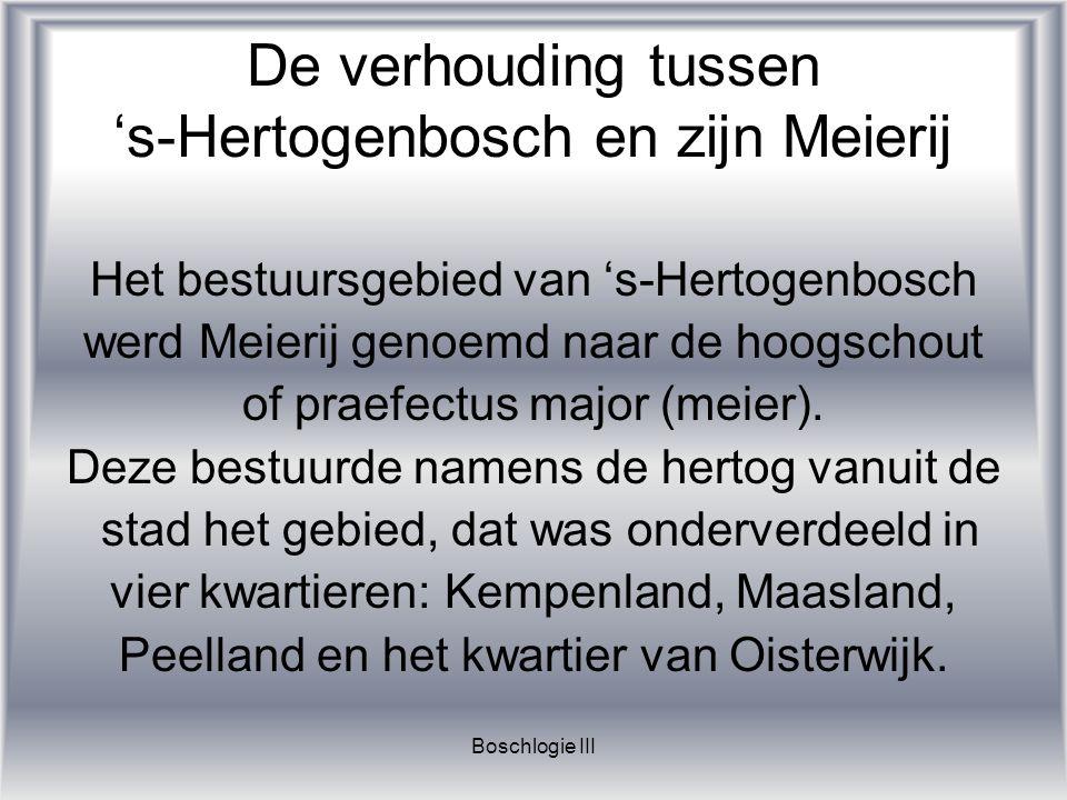 De verhouding tussen 's-Hertogenbosch en zijn Meierij