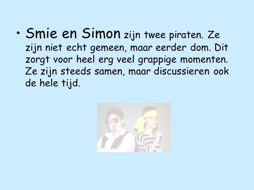 Smie en Simon zijn twee piraten