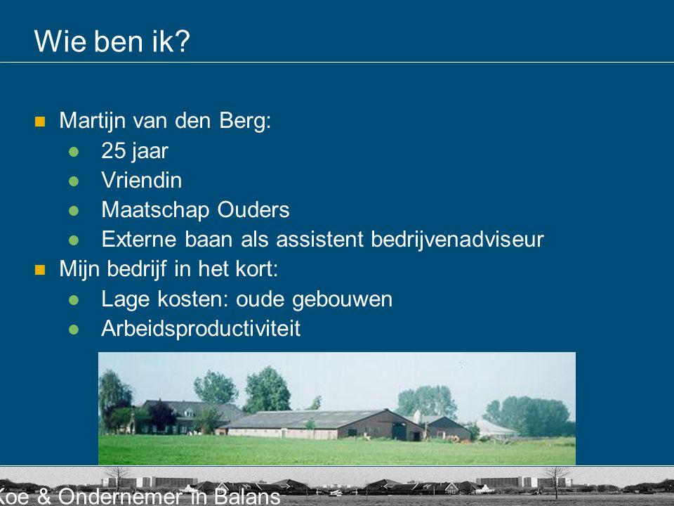 Wie ben ik Martijn van den Berg: 25 jaar Vriendin Maatschap Ouders
