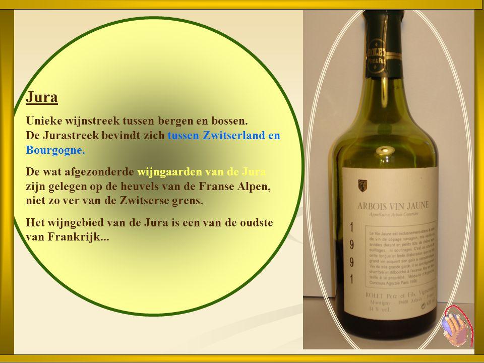 Jura Unieke wijnstreek tussen bergen en bossen. De Jurastreek bevindt zich tussen Zwitserland en Bourgogne.