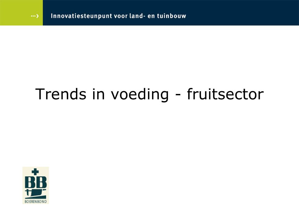 Trends in voeding - fruitsector
