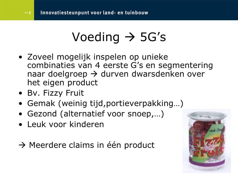 Voeding  5G's