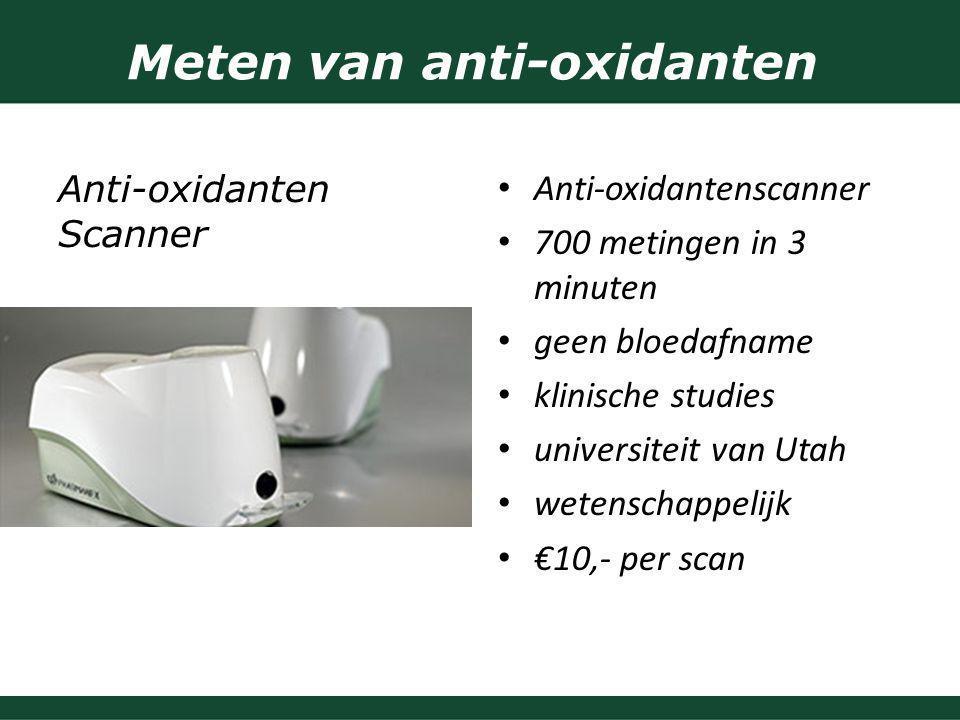 Meten van anti-oxidanten