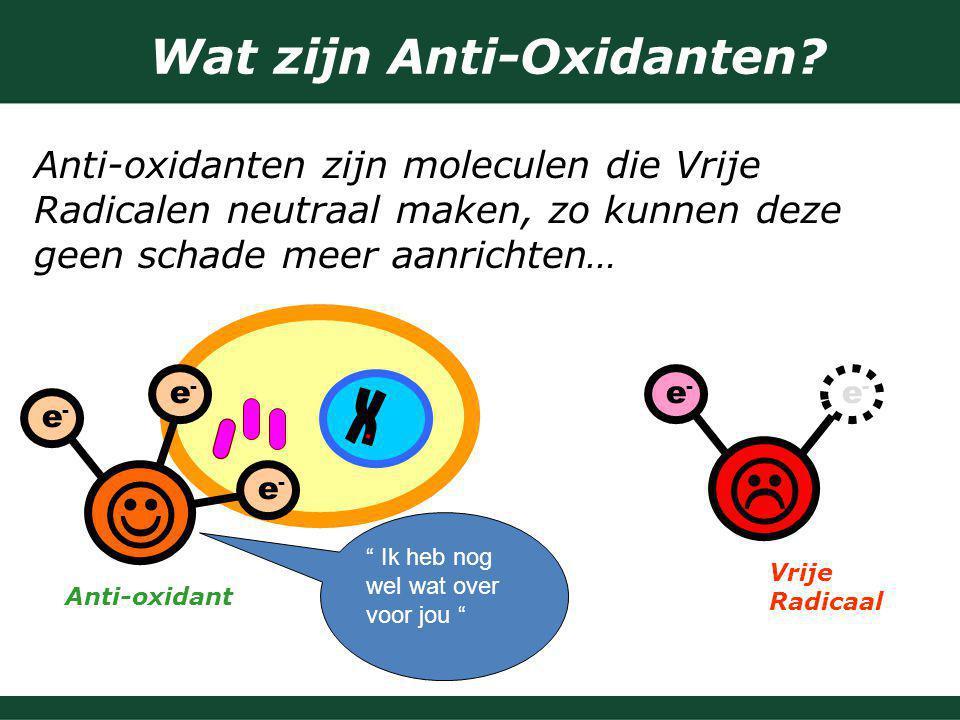 Wat zijn Anti-Oxidanten