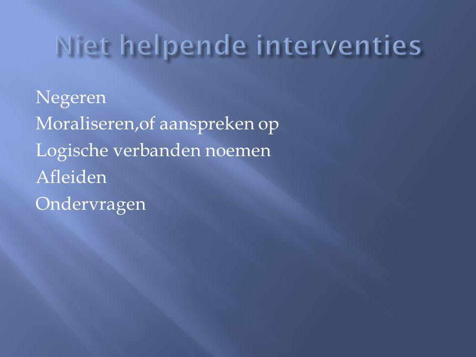Niet helpende interventies