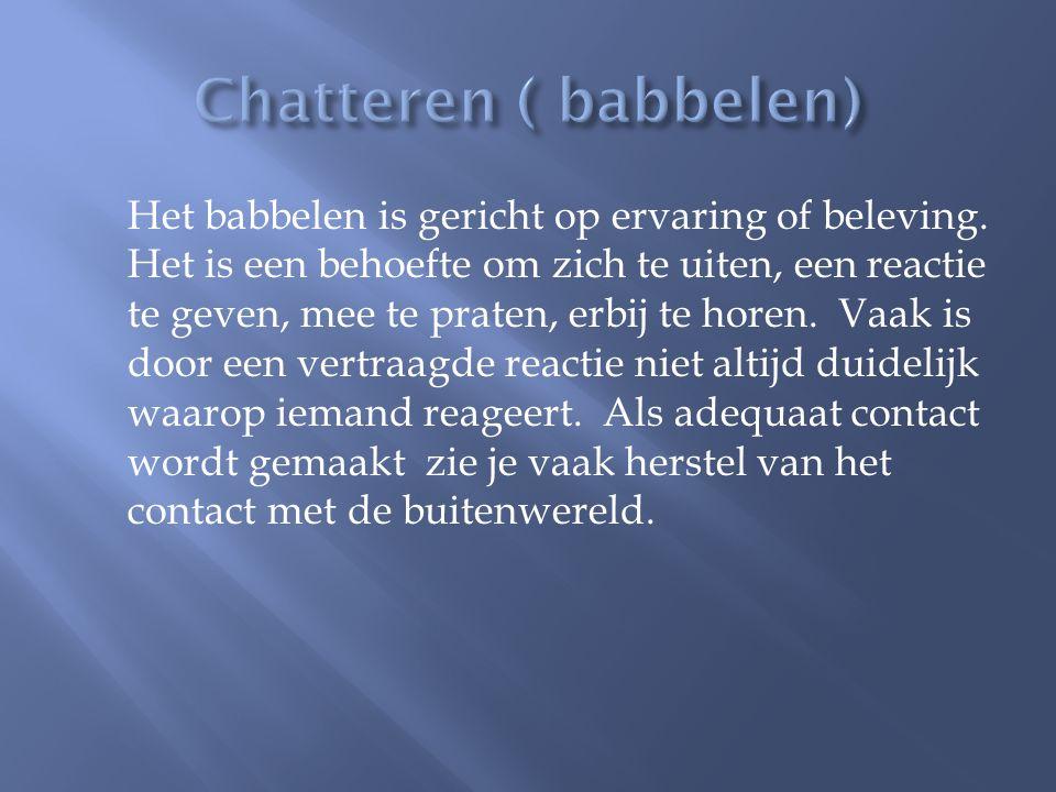 Chatteren ( babbelen)