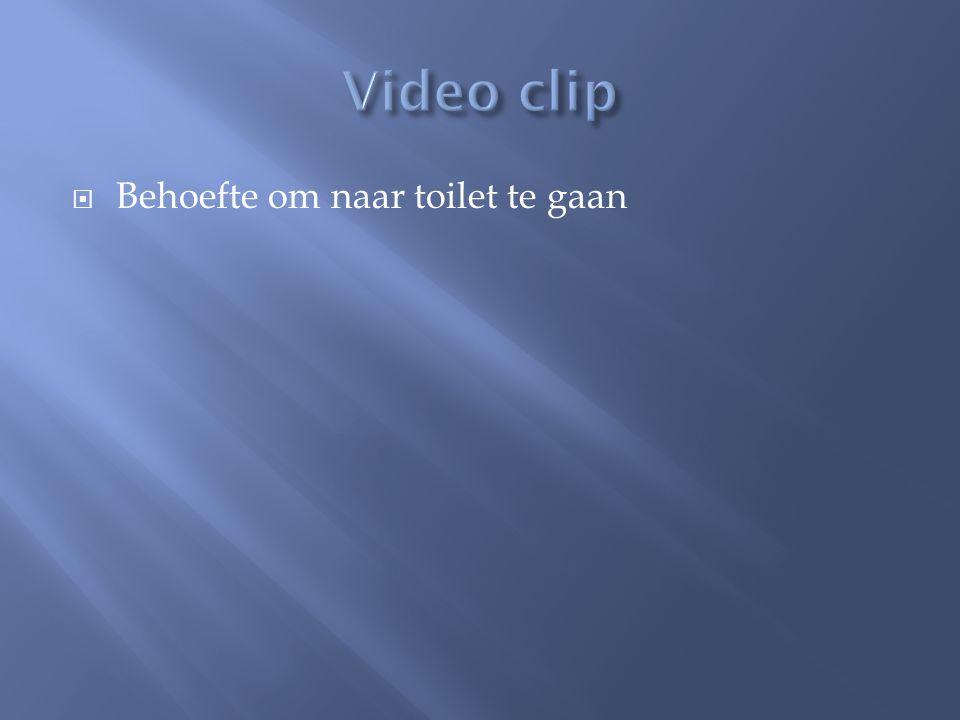 Video clip Behoefte om naar toilet te gaan
