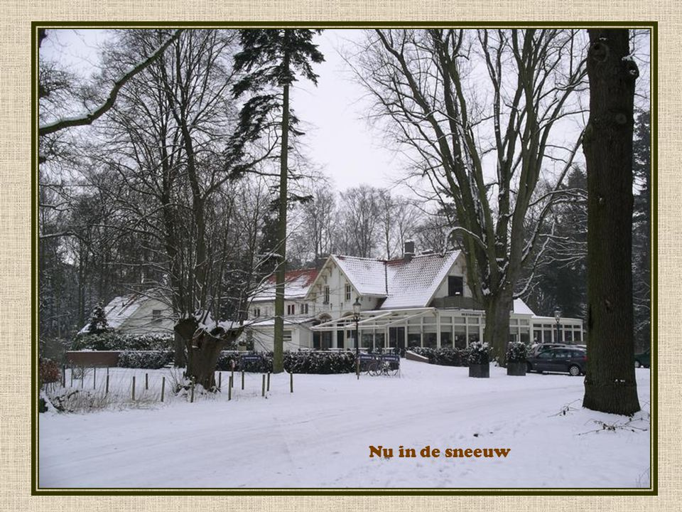 Nu in de sneeuw
