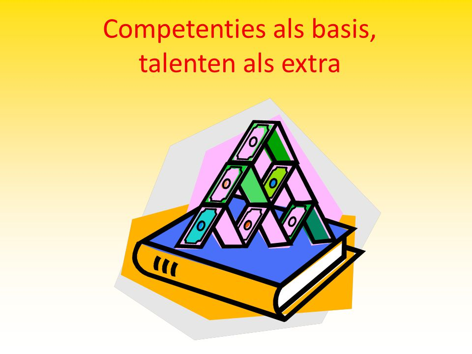 Competenties als basis, talenten als extra