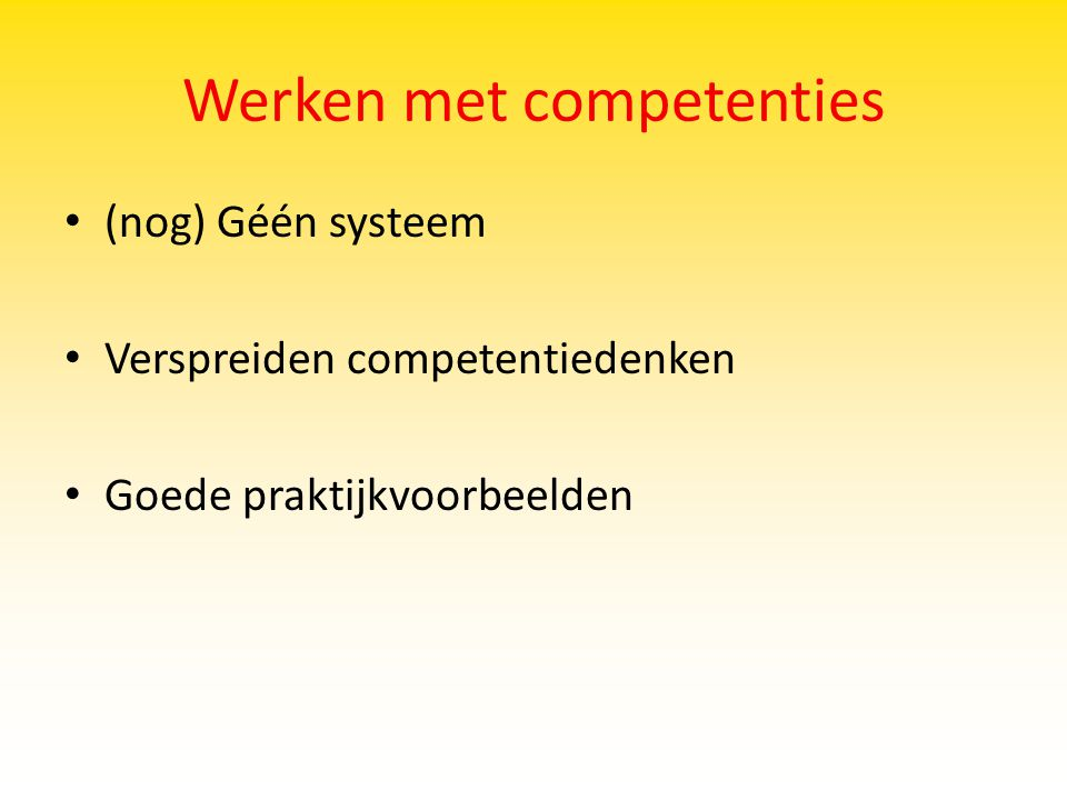 Werken met competenties