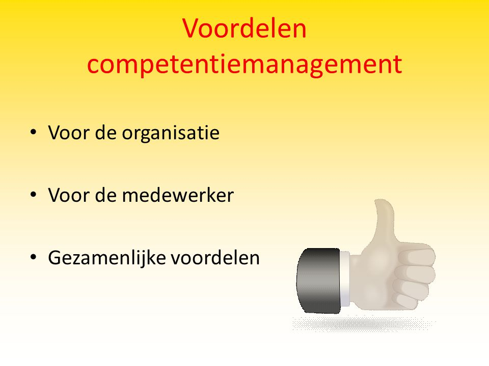 Voordelen competentiemanagement