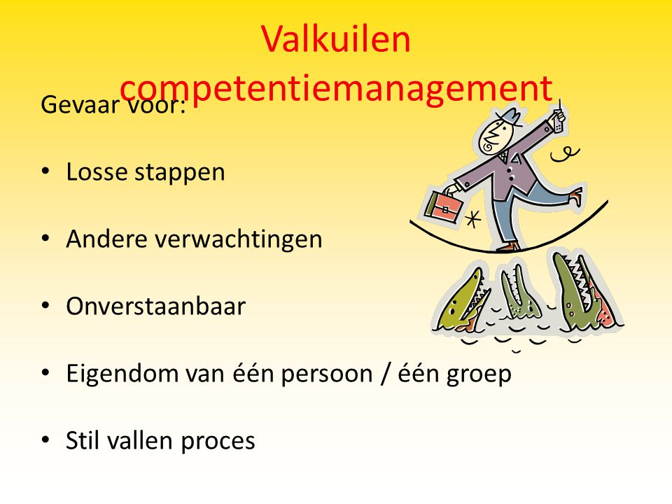 Valkuilen competentiemanagement