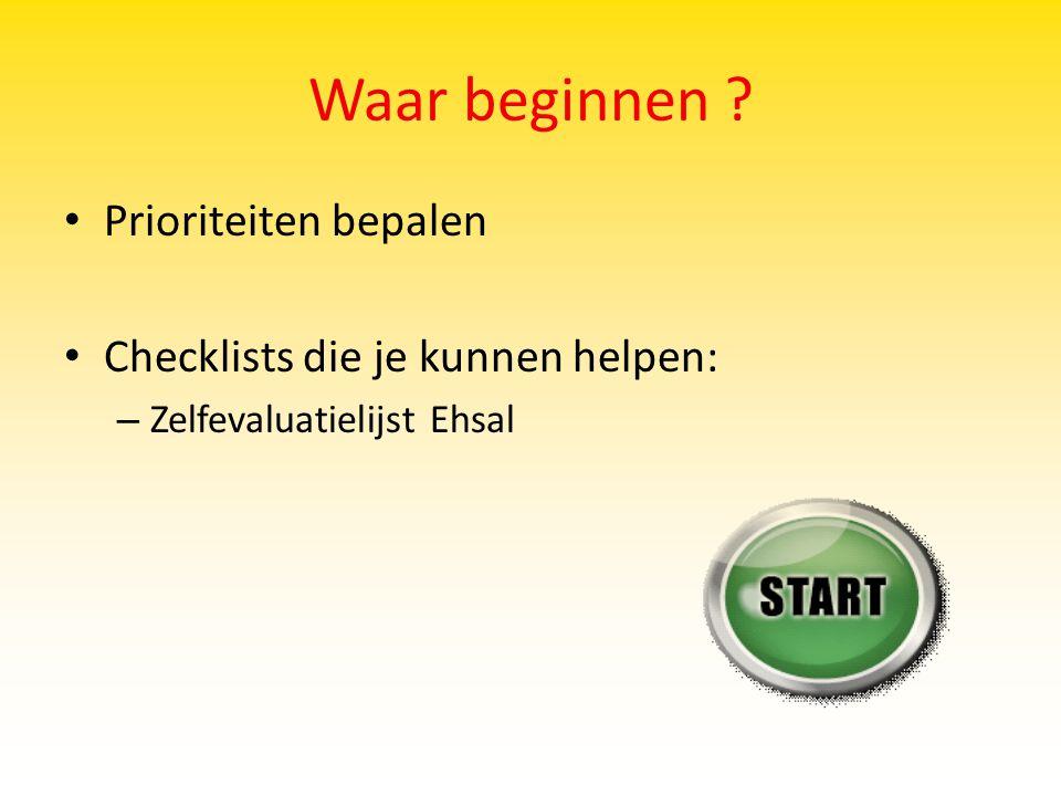 Waar beginnen Prioriteiten bepalen Checklists die je kunnen helpen: