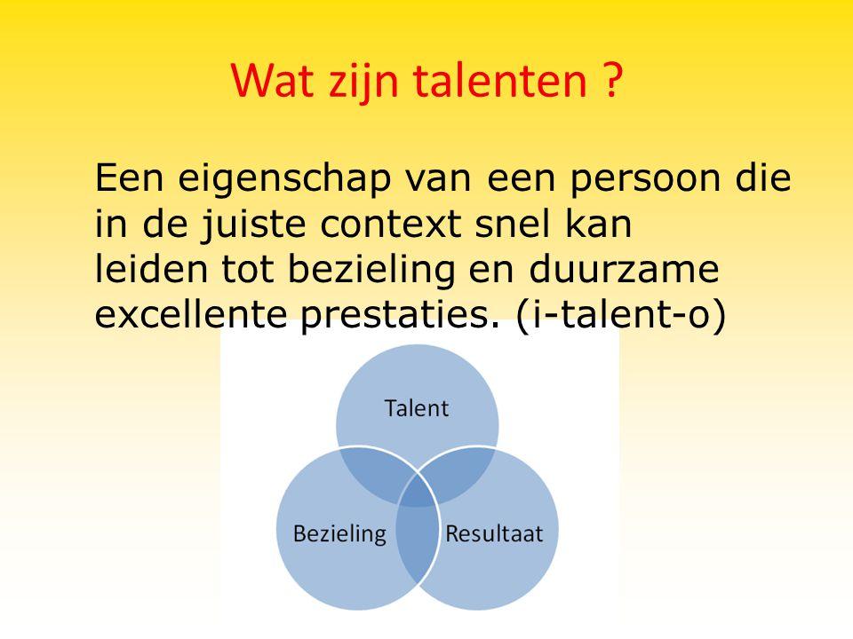 Wat zijn talenten