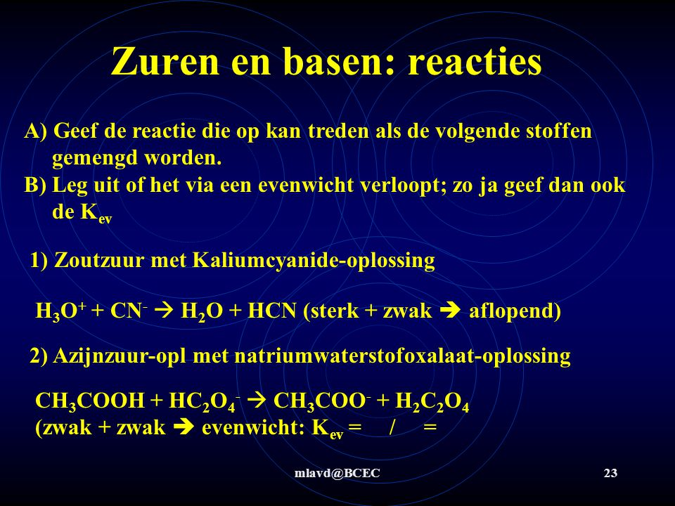 Zuren en basen: reacties
