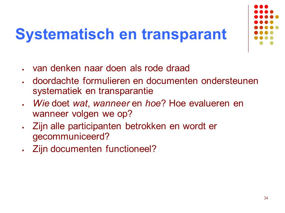 Systematisch en transparant
