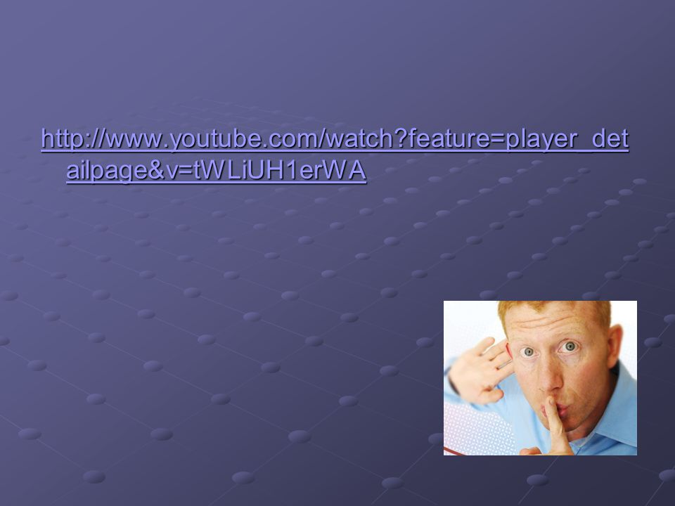 http://www.youtube.com/watch feature=player_detailpage&v=tWLiUH1erWA