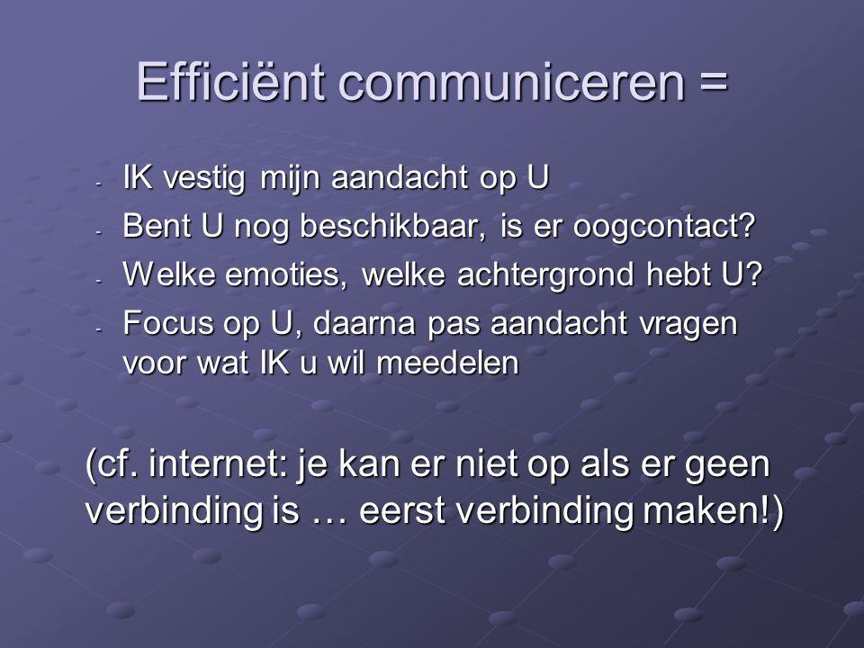 Efficiënt communiceren =