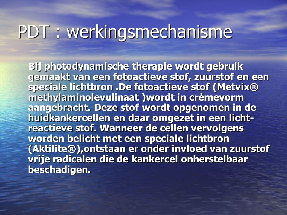 PDT : werkingsmechanisme