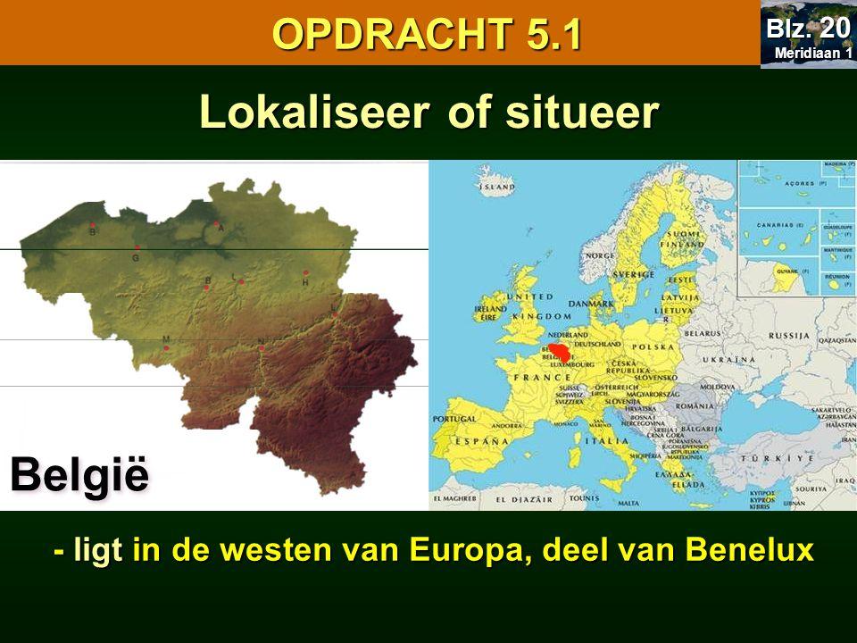 - ligt in de westen van Europa, deel van Benelux