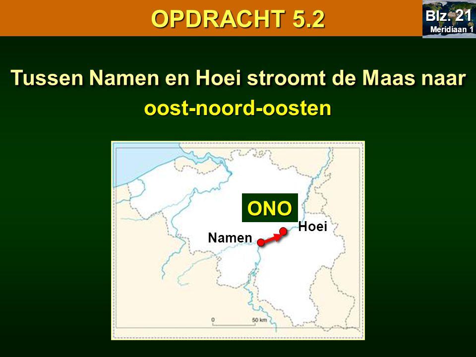 Tussen Namen en Hoei stroomt de Maas naar