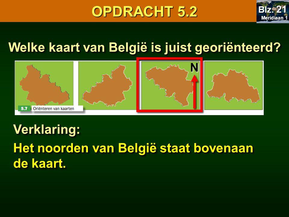 Welke kaart van België is juist georiënteerd