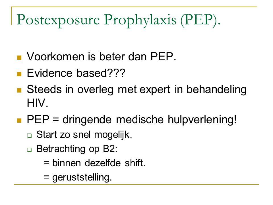 Postexposure Prophylaxis (PEP).