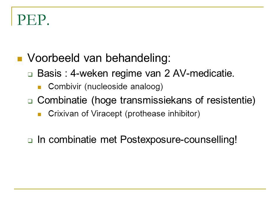 PEP. Voorbeeld van behandeling: