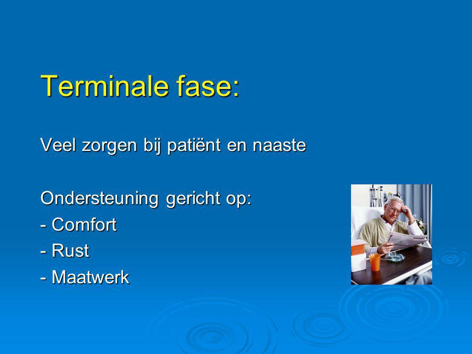 Terminale fase: Veel zorgen bij patiënt en naaste
