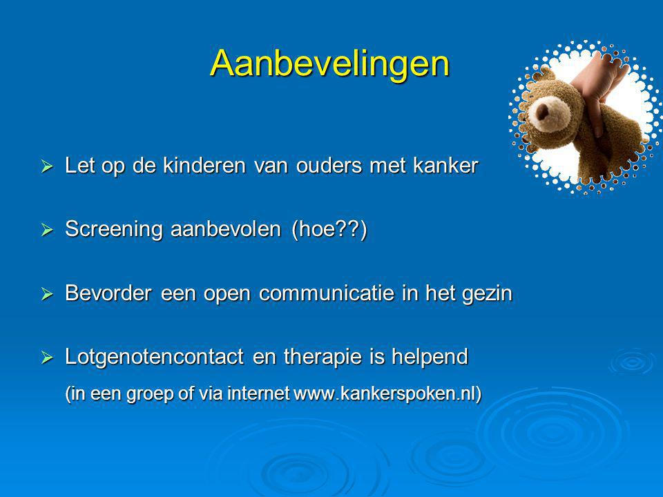 Aanbevelingen (in een groep of via internet www.kankerspoken.nl)