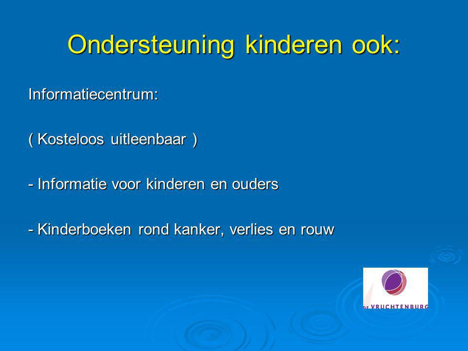 Ondersteuning kinderen ook: