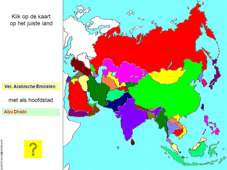 Klik op de kaart op het juiste land