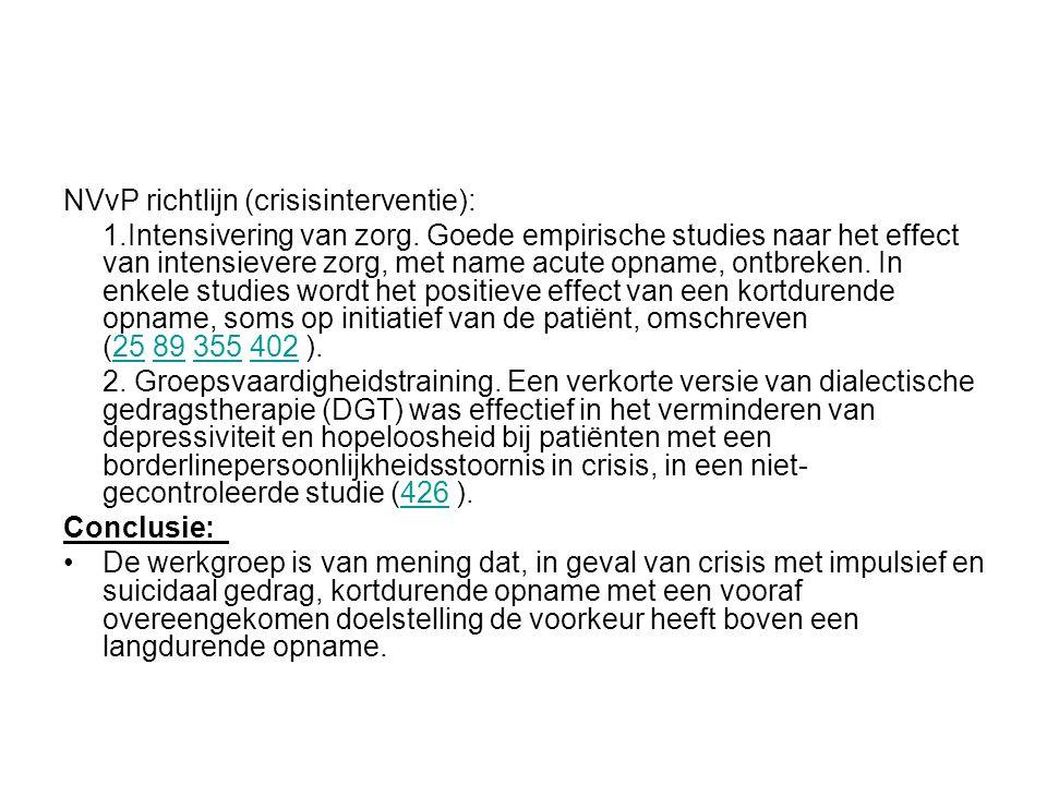 NVvP richtlijn (crisisinterventie):
