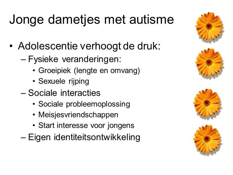 Jonge dametjes met autisme