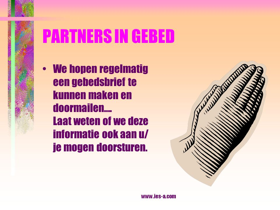 PARTNERS IN GEBED