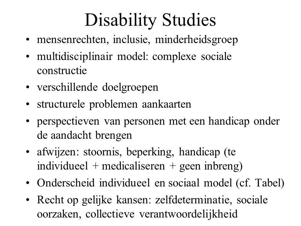 Disability Studies mensenrechten, inclusie, minderheidsgroep