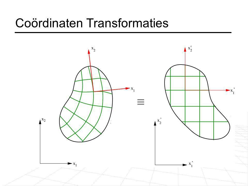 Coördinaten Transformaties